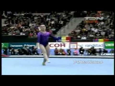 Aliya Mustafina (RUS) Gold Medal AA Rotterdam Worlds 2010 ©Televisa Deportes Network
