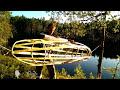 Фрагмент с конца видео Самодельная прозрачная байдарка из веток и пленки  Homemade stretch wrap kayak