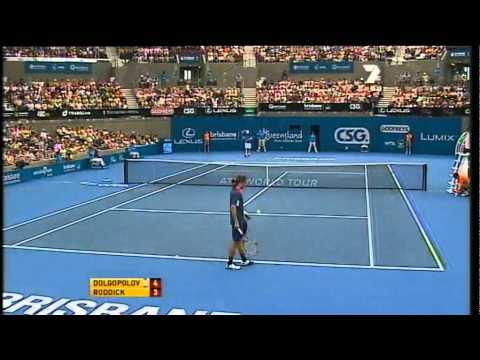 Alexandr Dolgopolov v Andy Roddick - Men's 2nd round: Brisbane International 2011