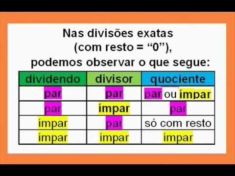 Nºs Pares/Ímpares X Continhas (1ª Parte)