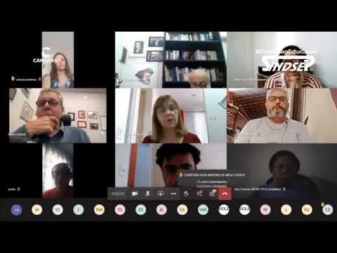 Maciel Nascimento fala em reunião do Comitê Emergencial da Educação da Câmara a criação de um instrumento de fala direta das entidades