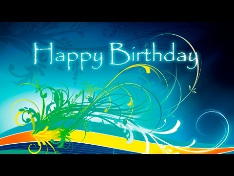 Happy Birthday Flourish - Animation
