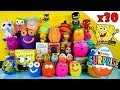 30 Kinder Surprise Play Doh Eggs Blind Box Toys Disney Princess Planes Spongebob TMNT PlayDough