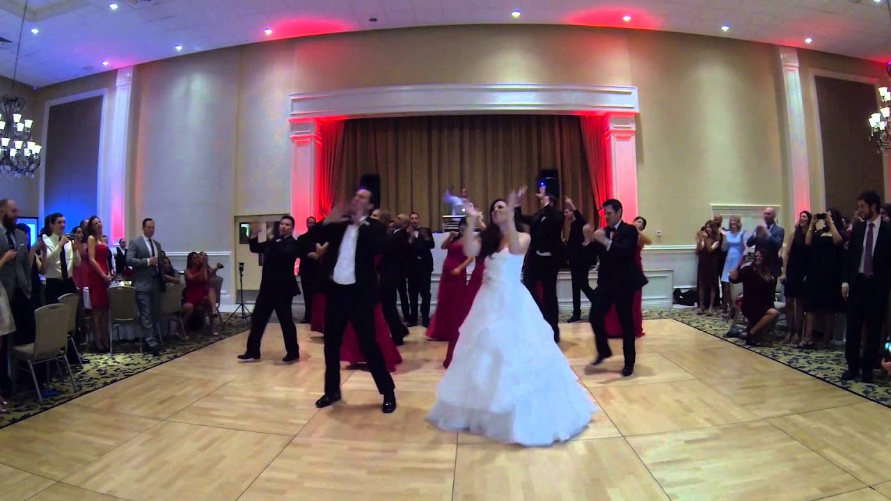 Gina & DJs awesome surprise wedding party dance to Uptown Funk - 2/14/2015