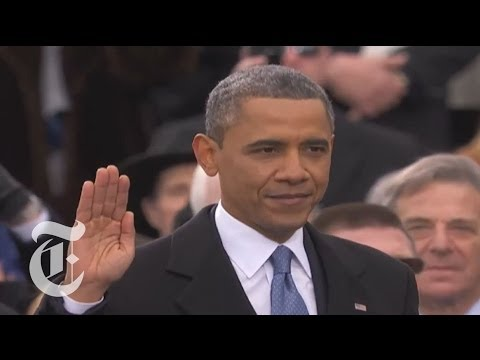 Barack Obama 2013 Inauguration Oath of Office