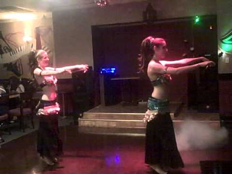 Belly Dancers Perform at Aladdin's Hookah Lounge & O2 Bar