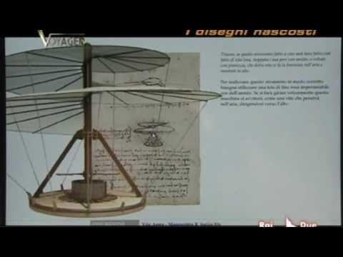 Il segreto dell'elicottero di Leonardo da Vinci - Voyager 2008 - Mario Taddei - Leonardo3.avi