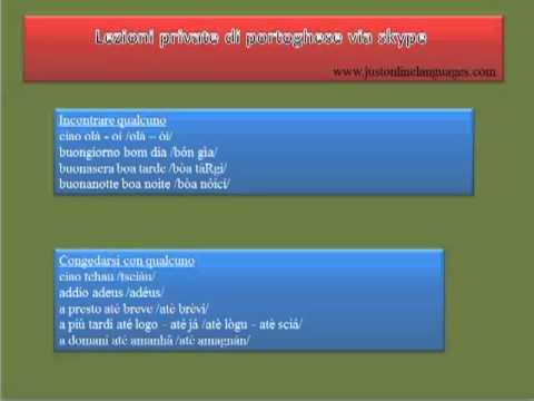Lezioni private di portoghese via skype