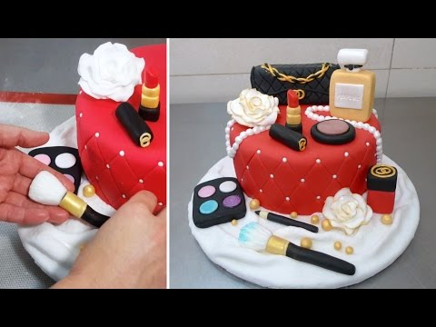 MAKEUP Fashion Cake How To Make *Torta Maquillajes by CakesStepbyStep