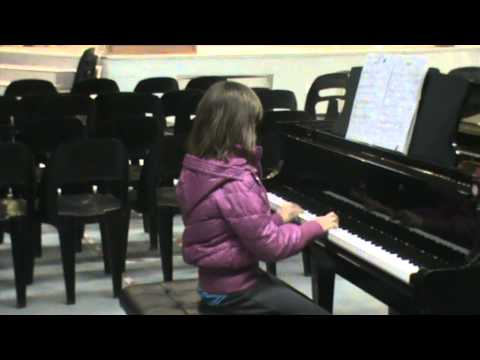 Vanja Andjelic, piano exam rehearsal Baobab School Gaborone June 2012