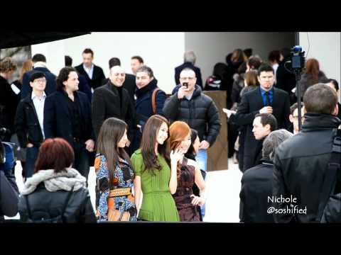 [FANCAM][120220] 2012 F/W Burberry Prorsum Fashion Show Preview - SNSD