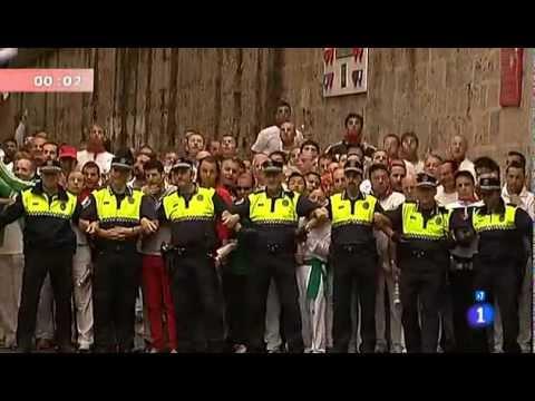 Cuarto encierro San Fermín 2012 10 julio