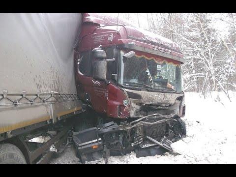 Жесткие аварии грузовиков - Зима 2017