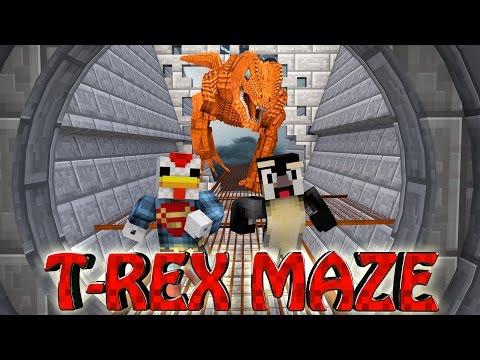 Minecraft | MAZE CHALLENGE SURVIVAL - T-REX Challenge Part 6! (CrazyCraft)