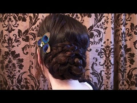 Creative Hairstyles:  Wrapped Braided Bun