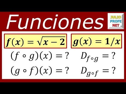 Funciones compuestas y sus dominios