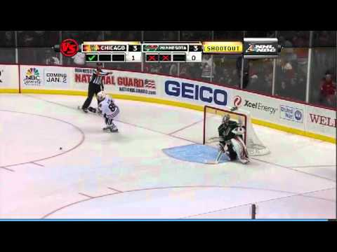 #88 Patrick Kane Shoot Out Goal vs. Wild 12/14/11