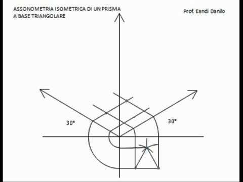 Assonometria isometrica prisma base triangolare