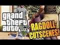 GTA 5 Ragdoll MOD in Cutscenes! (Funny Moments w/Mods)