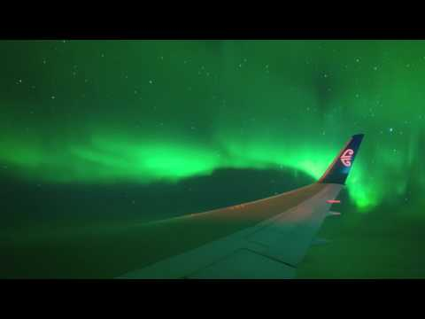 Fascinante vuelo chárter sólo para ver de cerca la aurora austral