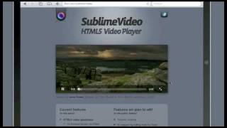 Html5 video on ipad simulator jilion sublimevideo demo