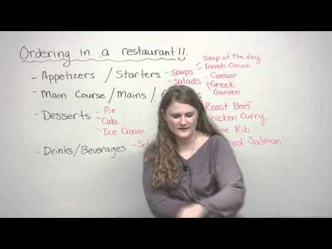 Speaking English - How to order in a restaurant