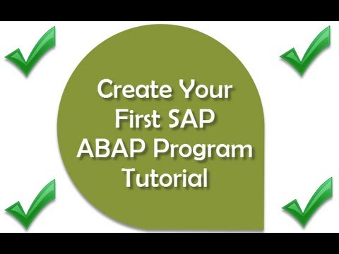SAP Training: Beginners Guide - Learn SAP ABAP - Create Your First ABAP Program