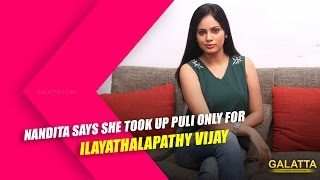 Watch Nandita says she took up Puli only for Ilayathalapathy Vijay Red Pix tv Kollywood News 27/Nov/2015 online