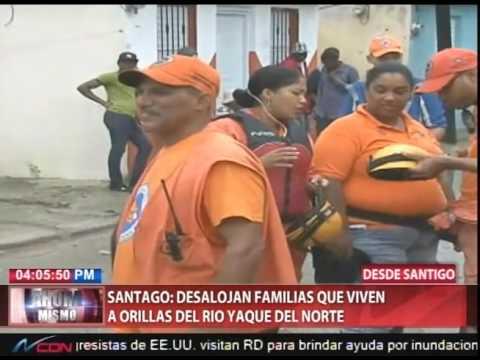 Santiago: desalojan familias que viven a orillas del río Yaque del Norte