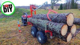 ATV Timber Trailer CRANE BUILD