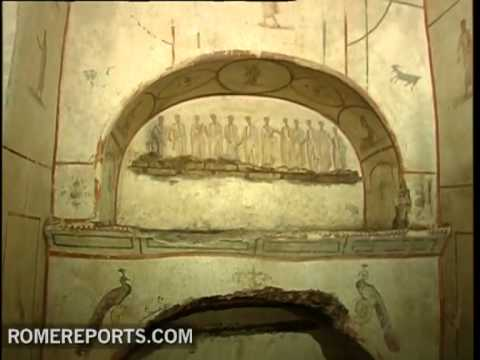 Vatican archeologists reveal 3rd century paintings hidden beneath Rome