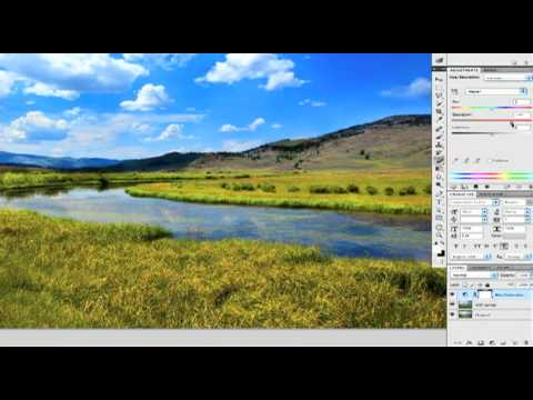 Photoshop CS5 Hue & Saturation Masking Tutorial