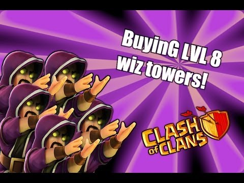 Clash of clans - Buying Lvl 8 Wizard towers / troops ( None ShAll Pass )