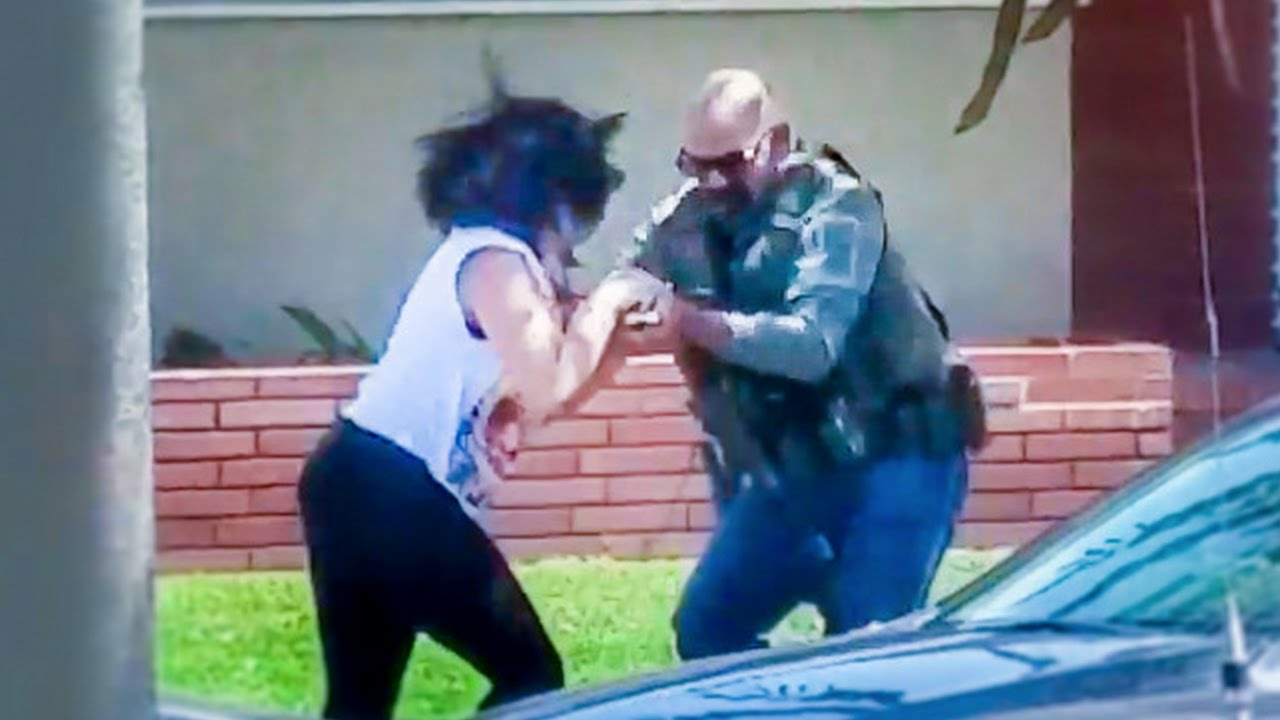 Woman Recording Cop Activity Gets Cell Phone Aggressively Taken And Destroyed   (Brutality)