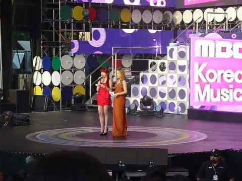 [fancam] 120521 MBC Korean Music Wave in Google - Taeyeon & Tiffany