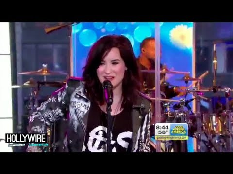 Demi Lovato Forgets Lyrics To 'Heart Attack' On Good Morning America!