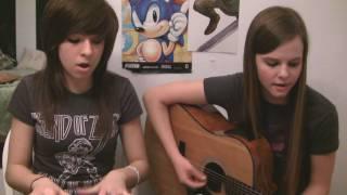 "Tiffany and Christina singing ""Break Your Heart"" by Taio Cruz"