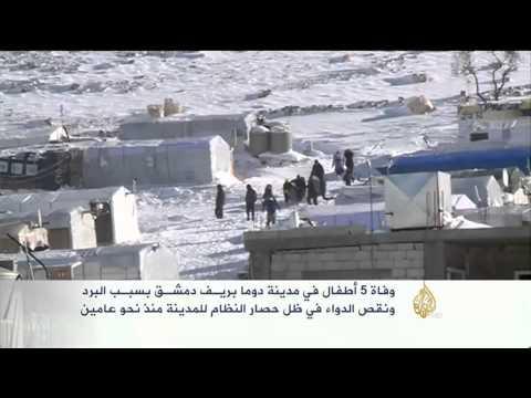 شاهد بالفيديو: الثلوج تحاصر مائة ألف سوري شمال شرقي لبنان