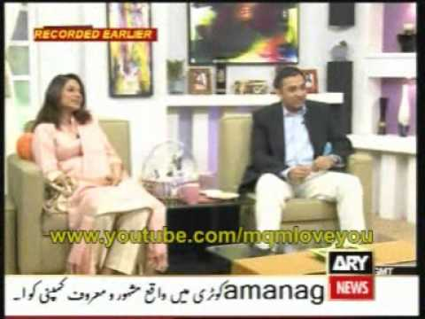 MQM Minister IT Raza Haroon & Mrs Haroon on ARY Maya show Part2