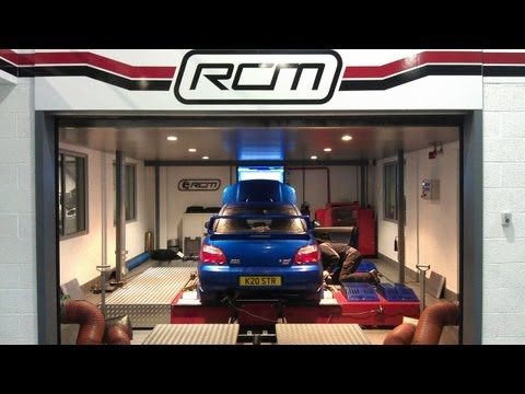 Subaru Impreza WRX STi Type UK Blitz Nur Spec R exhaust on Roger Clark Motorsport Rolling Road Dyno