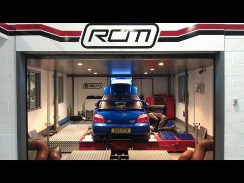 Subaru Impreza WRX STi Type UK Blitz Nur Spec R exhaust on Roger Clark Motorsport Rolling Road Dyno