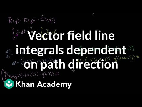 Vector Field Line Integrals Dependent on Path Direction