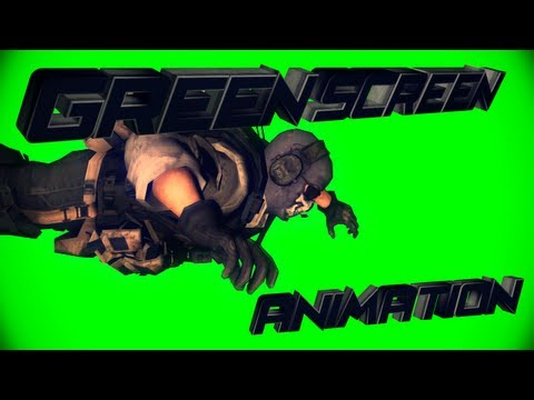 Skydive ghost model animation # Green Screen | By Faexediting