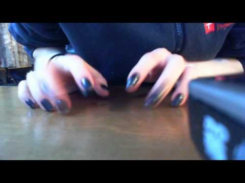 Blue Nail Tapping & Scratching