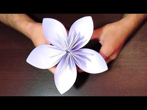 Цветы бумажные поделки 68
