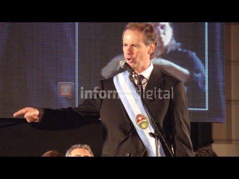 <b>Asunción. </b>Bordet dio su primer discurso frente a la Casa Gris.
