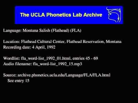 Flathead audio: fla_word-list_1992_15