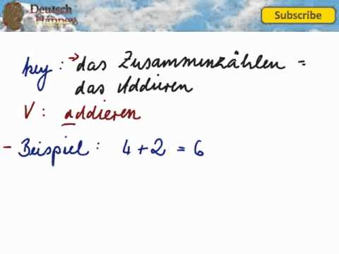 Grundrechenarten 2 - Addition Plus-Rechnung - Learn German Vocabulary with Deutsch Happen