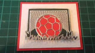Handmade cards football card youtube bookmarktalkfo Gallery