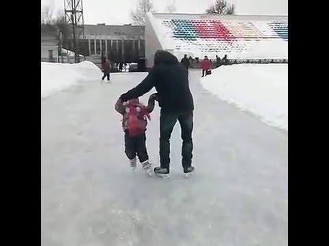 Первое вращение на коньках
